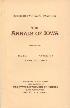 Annals of Iowa: Third Series - Volume 29, Number 2 - October, 1947 - Part I. Emory H. English
