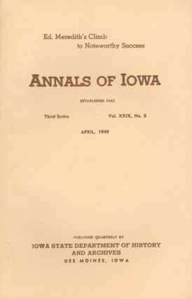 Annals of Iowa: Third Series - Volume 29, Number 8 - April, 1949. Emory H. English