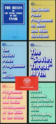 60 Years of the USSR: The rules of the Trade Unions of the USSR; The Soviet Peace Programme: Its...