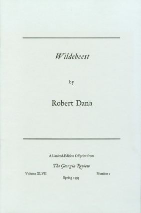 Wildebeast. Robert Dana